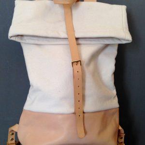 Rucksack aus Baumwolle und Leder Image